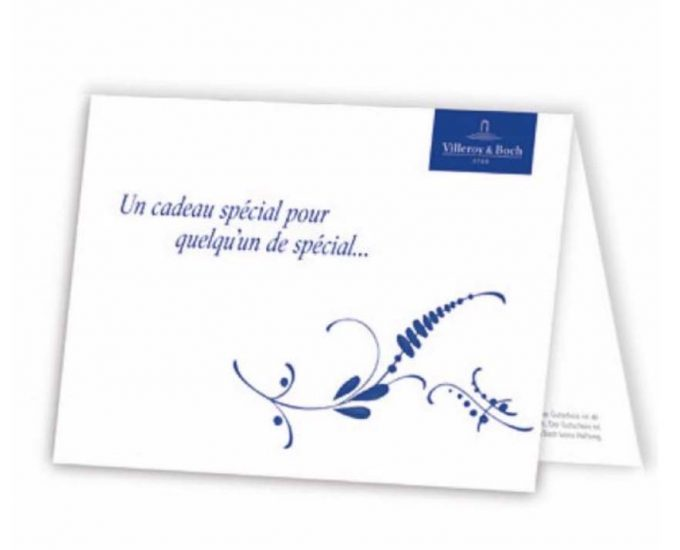 Carte Cadeau Villeroy & Boch Arts de la Table