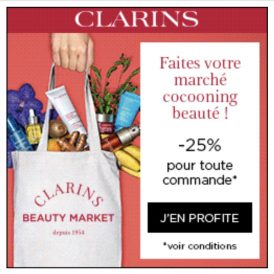 Clarins 25% de réduction