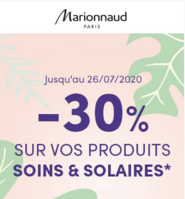Soldes Solaires Marionnaud