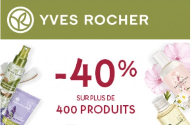 Yves Rocher 40% réduction